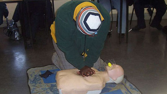 BLS Class doing CPR